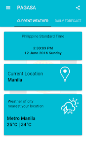 DOST PAGASA Mobile App screenshot for Android