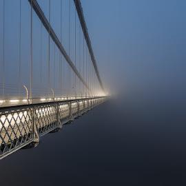 Into The Abyss by Artur Szczeszek - Buildings & Architecture Bridges & Suspended Structures ( fog, suspension, bridge, clifton, mist )