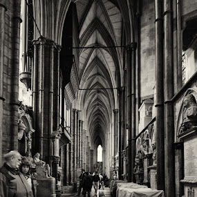 Inside Westminster Abbey by Ajay Sood - Buildings & Architecture Other Interior ( interior, uk, building, europe, black and white, sood, bw, bwinterior, monotone, pwc74, westminster abbey, london, ajay, travelure )