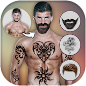 Download Man Tattoo & Hairstyle Editor APK to PC