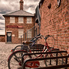 Mermaid House by Jon Hunter - Transportation Bicycles ( cobbles, hdr, vintage, street, bicycle )
