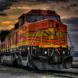 N&E by Jason James - Transportation Trains ( railroad, locomotive, train )