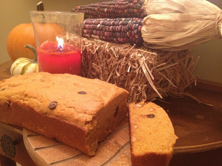 Low Fat Pumpkin Bread with Chocolate and Peanut Butter Chips Recipe ...