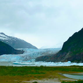 Mendenhall Glacier by Jason Kiefer - Landscapes Mountains & Hills ( , Alaska, snow, winter, cold )