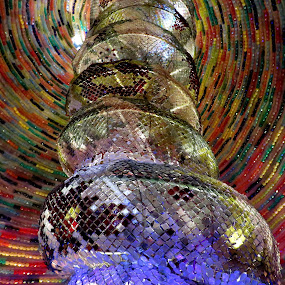 Light on glasses by Mainak Adak - Abstract Light Painting ( abstract, lighting, glasses, artistic objects, light )