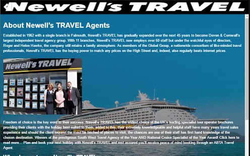 Newells Travel - screenshot