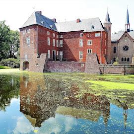 Castle Wissen by Svetlana Saenkova - Instagram & Mobile Android ( water reflection, pond, schloss, castle, germany, green water, historical,  )