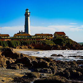 Lighthouse at Pigeon Poing by Craig Turner - Landscapes Waterscapes ( mountain, beach, beauty, travel, landscape, panorama, sun, tranquil, sky, nature, tree, snow, ecology, tropical ocean, evening, water, desert, park, grass, beautiful, sea, horizon, journey, lake, forest, paradise, sunlight, rural, amazing, dawn, vacation, season, blue, color, sunset, background, outdoor, cloud, scene, summer, scenery, sunrise, view, natural, panoramic )