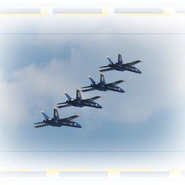 Navy Blue Angels by Sandy Stevens Krassinger - Transportation Airplanes ( fighte rjets, f-18, airplanes, transportation, blue angels )