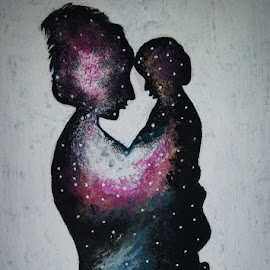 Galaxy Love by Sangeeta Paul - Painting All Painting