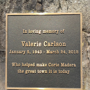 In loving memory of Valerie Carlson January 5, 1943 - March 24, 2018 Who helped make Corte Madera the great town it is today