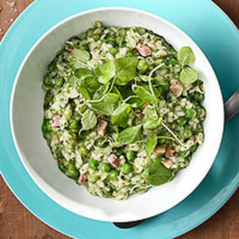 Pancetta And Sweet Pea Cheesy Farro Recipes — Dishmaps