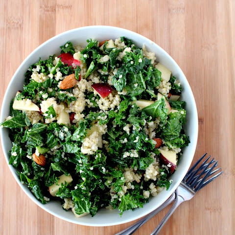 Kale and Apple Salad with Quinoa + Honey Mustard Vinaigrette