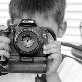 Young Photographer by Rob King - People Portraits of Men ( love, child, 5, photographer, photography, classic )