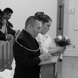 At the Alter by Michelle Lopez - People Couples ( #ceremony, #love, #bride, #wedding, #groom )