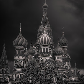 Moscow by Walid Ahmad - Black & White Buildings & Architecture ( cities, black and white, moscow, travel, nikon )