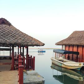serene by Prabhat Kumar - Transportation Boats ( water, serene, travel, morning, boat )