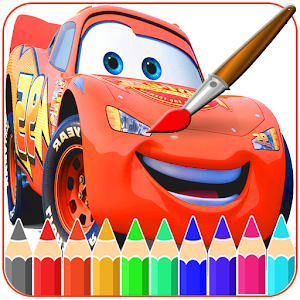 Mcqueen Coloring pages -Cars- Icon