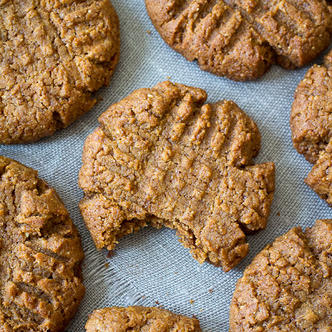 5-Ingredient Peanut Butter Cookies