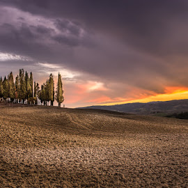 Tuscany by Ryszard Lomnicki - Landscapes Cloud Formations ( landscapes, tuscany, long exposure, italy )