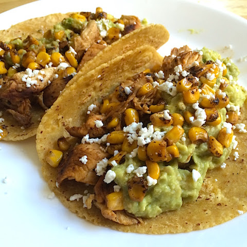 Mexican Street Corn Lime Chicken Tacos