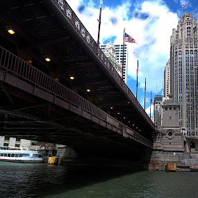 Bridge at Chicago by Cristobal Garciaferro Rubio - Buildings & Architecture Bridges & Suspended Structures ( michigan, bridge, usa, pwcbridges, river )