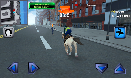 3D Police Horse Racing Extreme screenshot 2