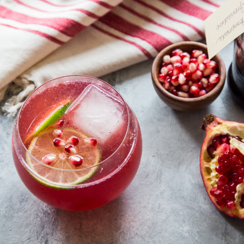 Homemade Grenadine + Pomegranate Vodka Fizz