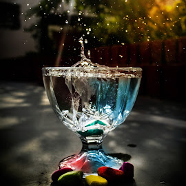 The sprinkles of mystic water by Shubham Shaswat - Abstract Water Drops & Splashes ( water, water drops, splash, glass, rocks )