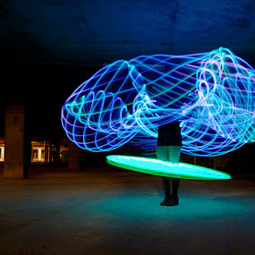 Led Hulahoops by Adam Scarf - Abstract Light Painting