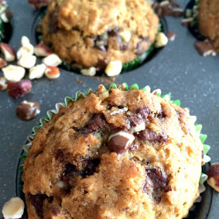 Mint Chocolate Hazelnut Muffins