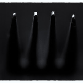 forked by Kevin Towler - Abstract Macro ( abstract, macro, fork, utensil, black and white, white, close up, black )