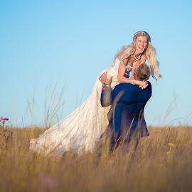 Dancing in the Field by Lodewyk W Goosen (LWG Photo) - Wedding Bride & Groom ( dancing, wedding photography, wedding photographers, wedding day, weddings, wedding, bride and groom, bride, groom, bride groom )