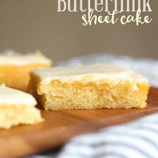 Vanilla Buttermilk Sheet Cake Recipes