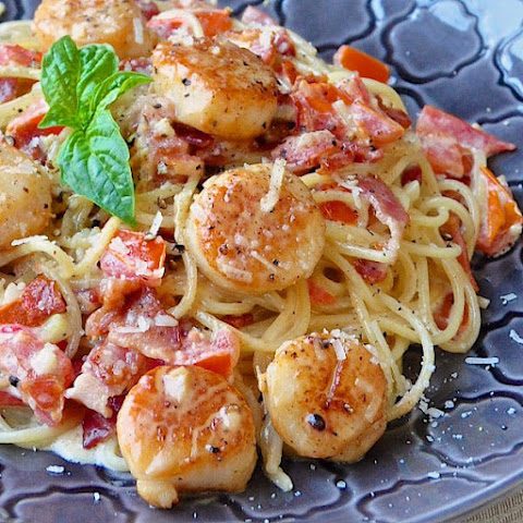 Scallops Pasta Garlic Oil Recipes | Yummly