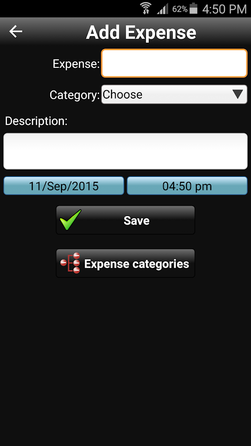 Daily Expenses 2 Screenshot 1
