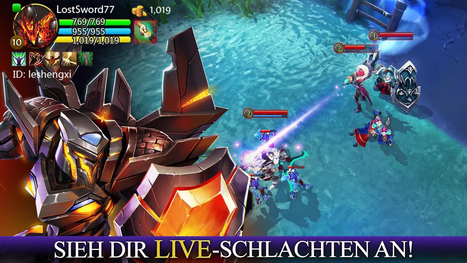 Heroes of Order & Chaos – Screenshot