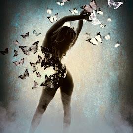 Butterfly Transformation by Kelley Hurwitz Ahr - Digital Art People ( studio, mkblondie, kelley hurwitz ahr, kellley ahr )