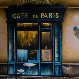 Paris Cafe by Will McNamee - Artistic Objects Other Objects ( aundiram@msn.com, danielmcnamee@comcast.net, mcnamee2169@yahoo.com, ronmead179@comcast.net )