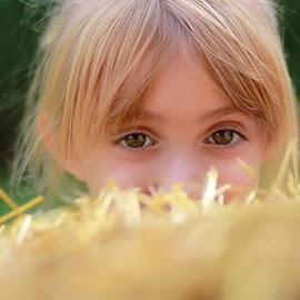 Peek a boo  by Susan Campbell - Babies & Children Child Portraits