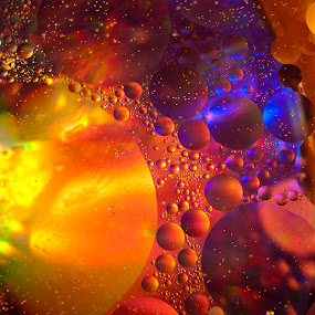 Galaxy Bubbles by Julie Wetherell - Abstract Water Drops & Splashes