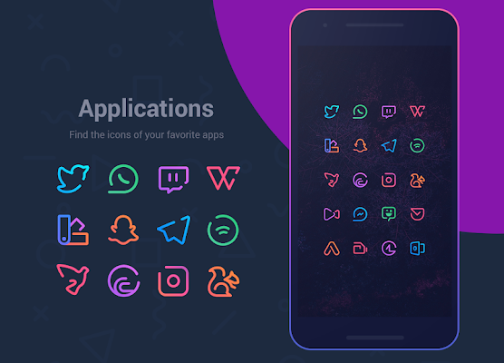 Linebit - Icon Pack Screenshot Image