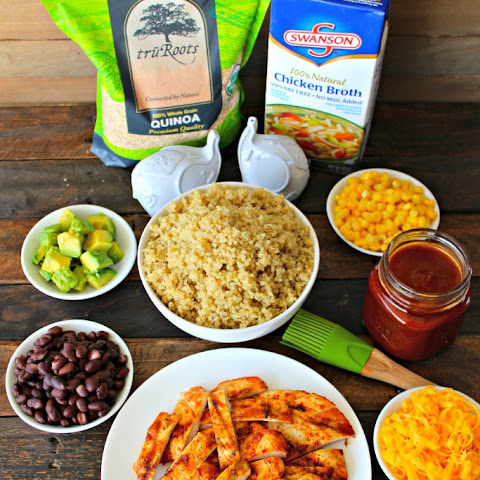 Grilled BBQ Chicken Quinoa Bowls