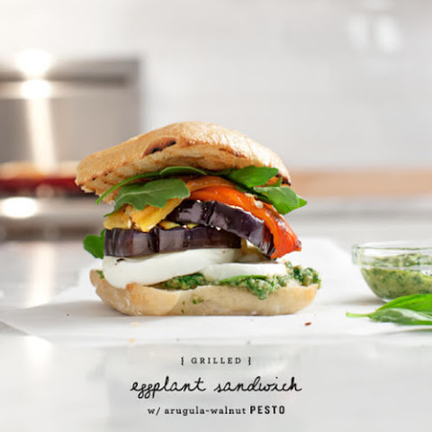 Grilled Eggplant & Pesto Sandwiches
