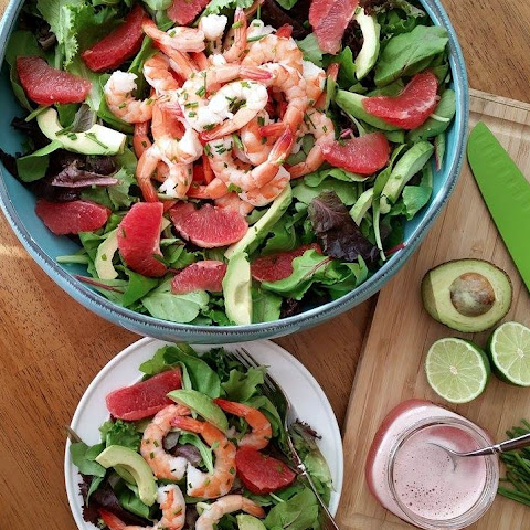 Gluten Free, Refined Sugar Free – Simple Grapefruit Vinaigrette Salad Dressing – Light & Fresh