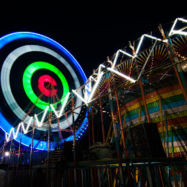 colorful wheel   by Charan Vicky - City,  Street & Park  Night