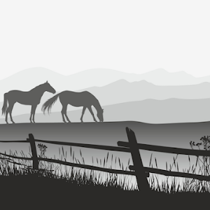 Two horses on meadow with fence.jpg