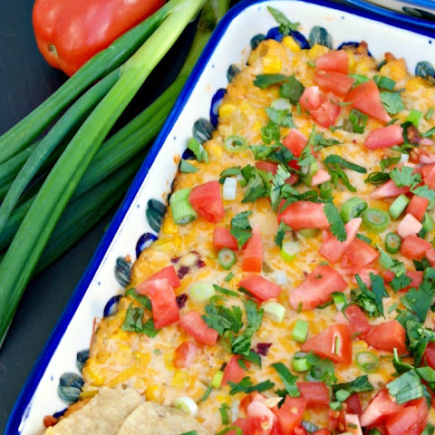 Baked Hot Cheesy Corn Dip
