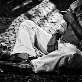 Deserted! by Gilberto Jr. - People Street & Candids ( brazil, b&w, street, men, deserted )