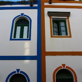 Neighbors by Katja Škerjanc - Buildings & Architecture Homes ( houses, venecia de canarias, canary islands, colorful, puerto de mogan, gran canaria )